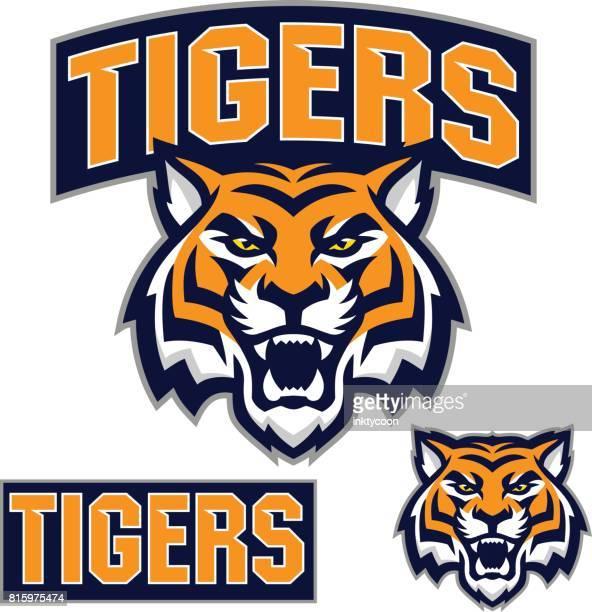 ilustraciones, imágenes clip art, dibujos animados e iconos de stock de kit de deporte de tiger - tigre