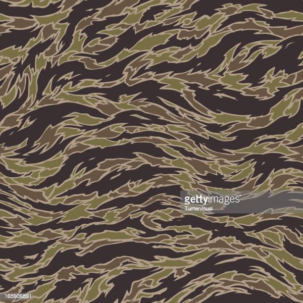 Tiger Stripe Camouflage - Seamless Tile