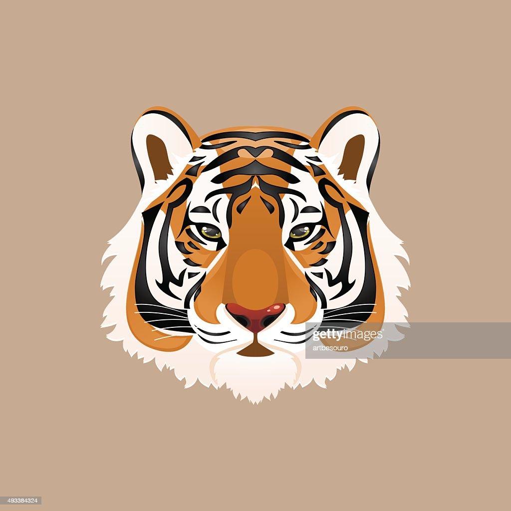 Tiger. Vector illustration