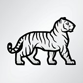 Tiger vector. Mascot design template. Shop or product illustration. Expedition