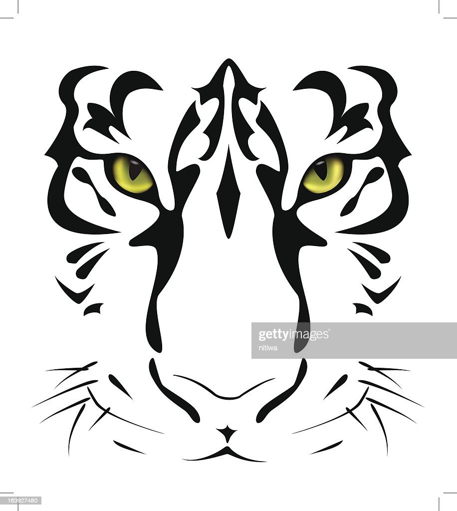 Tiger's eyes and stripes