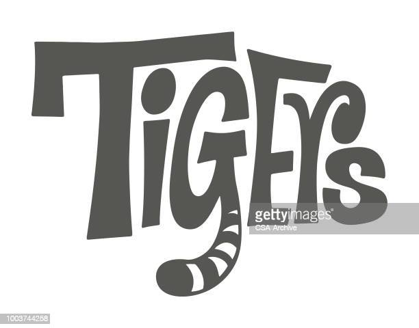 tigers - mascot stock illustrations