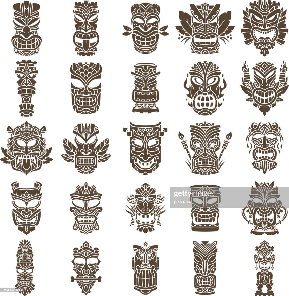 Tiki Head Design Set