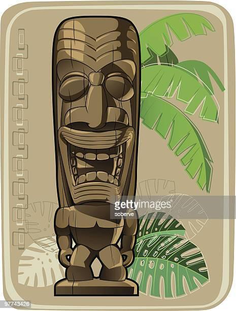 ilustrações de stock, clip art, desenhos animados e ícones de tiki#3 - folha de bananeira
