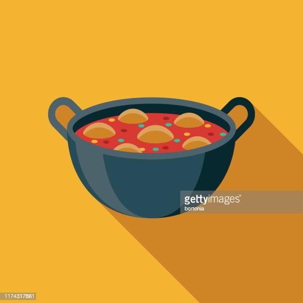 tikka masala indian food icon - indian food stock illustrations