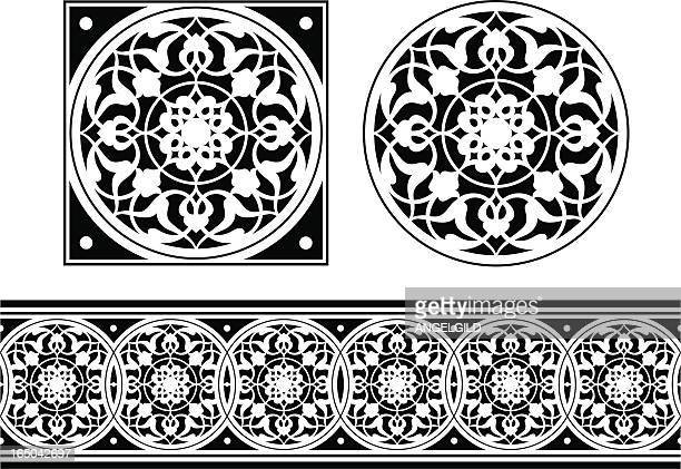 tile and frieze design - gothic style stock illustrations, clip art, cartoons, & icons