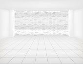 tile floor brick wall