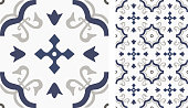 Tile or textile seamless pattern.