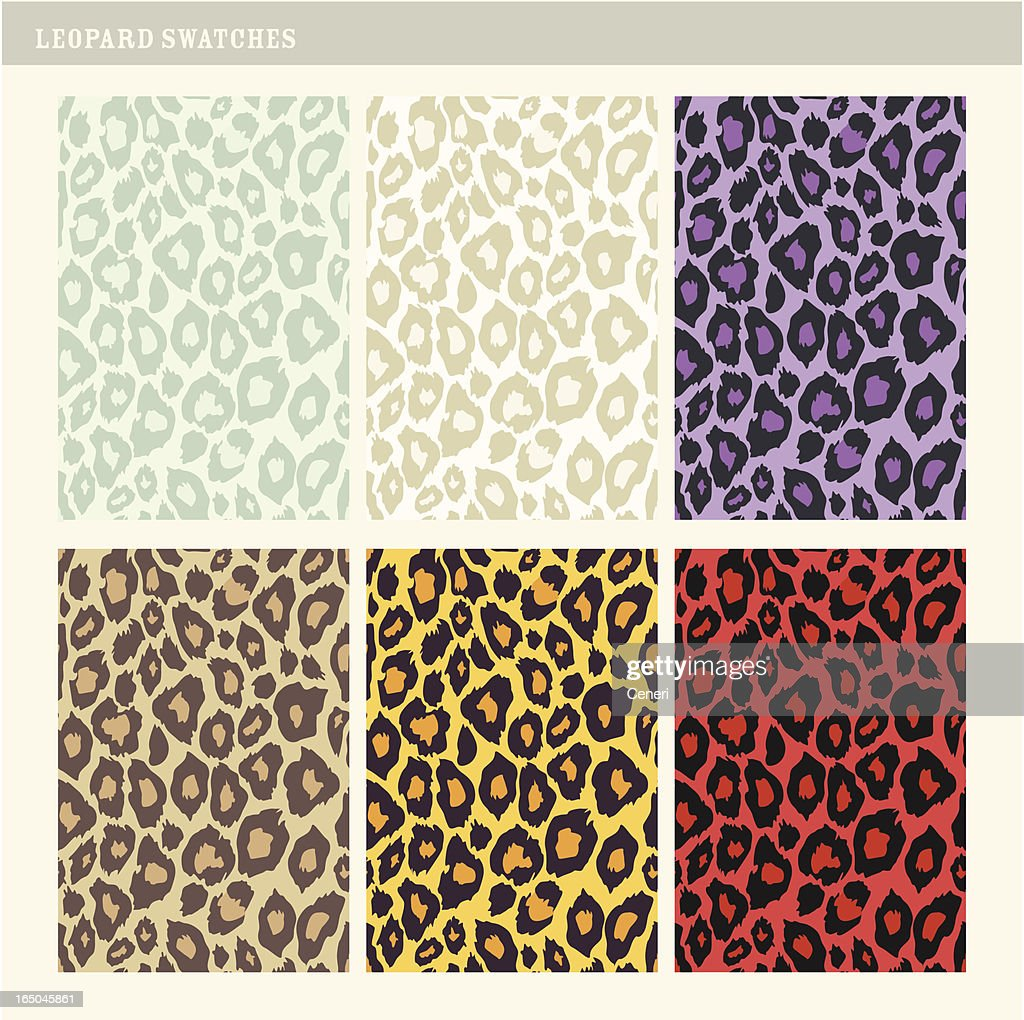 Tileable Leopard swatches