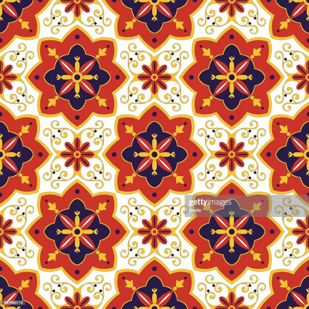 Tiles pattern vector
