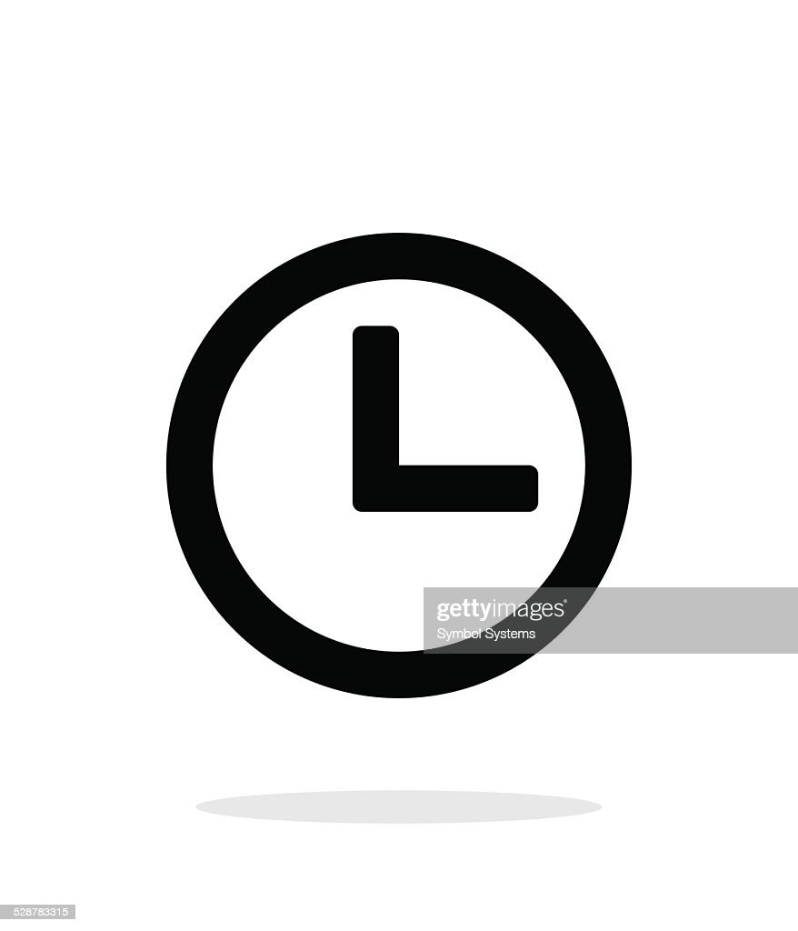Time and Clock icon on white background.