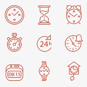 Time and clock icons