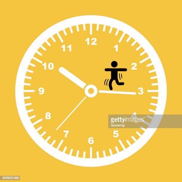 illustrations, cliparts, dessins animés et icônes de concept de temps - crouler sous le travail