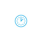 Time control linear icon concept. Time control line vector sign, symbol, illustration.