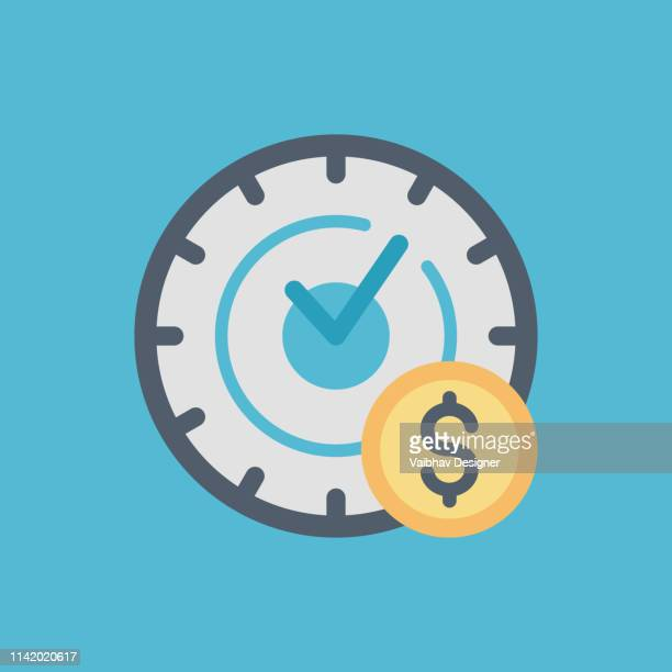 Time Efficiency, Make money icon, save money, give money, donation icon, crowdfunding icon, investment, growth icon, premium icon vector - Illustration