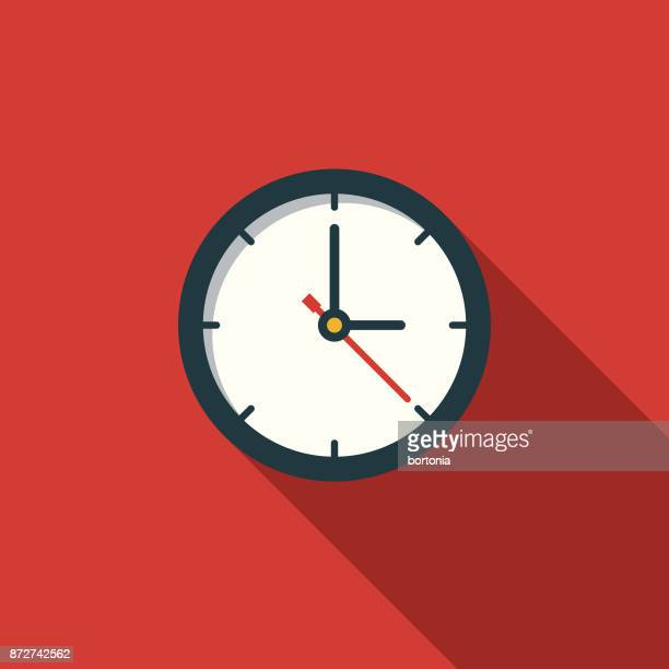 time flat design education icon with side shadow - time stock illustrations
