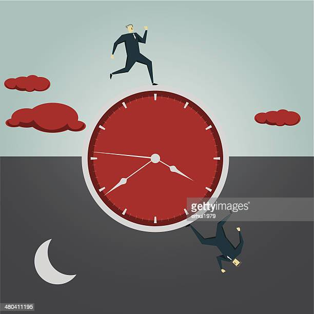 time flies - day stock illustrations, clip art, cartoons, & icons