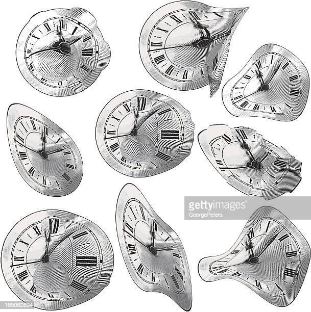 &グラビティープール時間 - サルバドール・ダリ点のイラスト素材/クリップアート素材/マンガ素材/アイコン素材