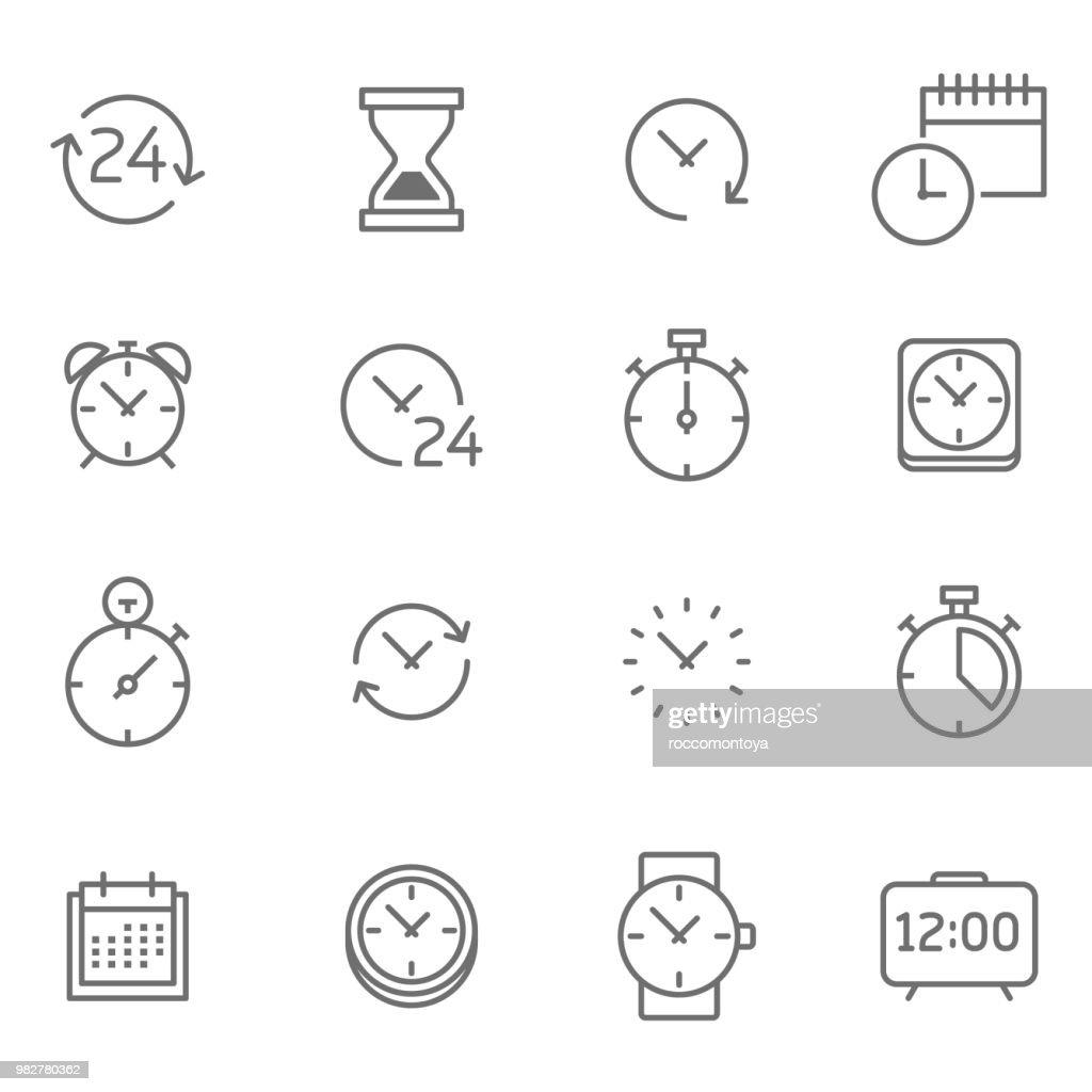 Time icon set - Illustration