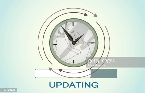 時間アイコン。時計または期限記号を更新します。 - ソフトウェアアップデート点のイラスト素材/クリップアート素材/マンガ素材/アイコン素材