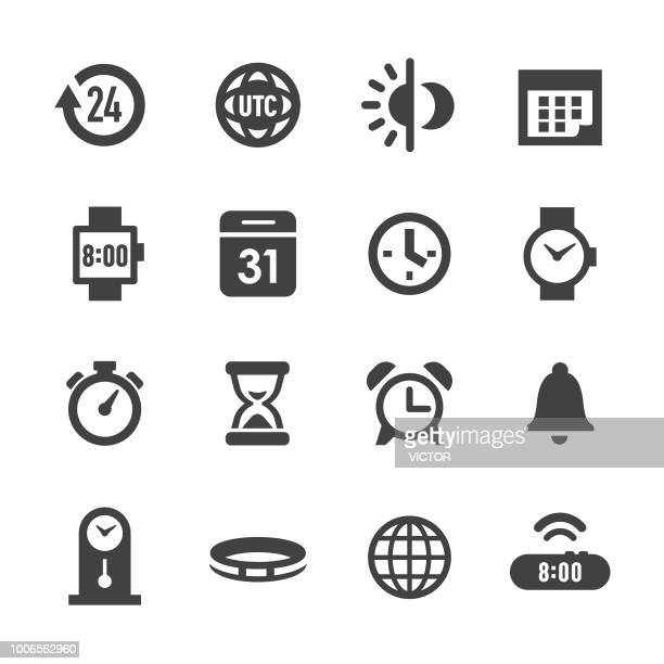 time icons - acme series - day stock illustrations, clip art, cartoons, & icons