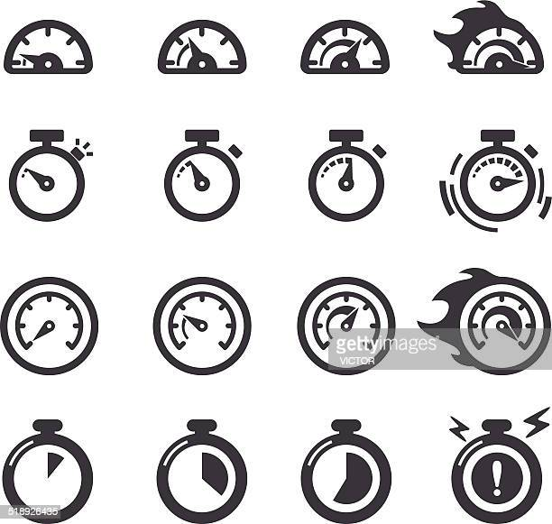 time icons - acme series - speedometer stock illustrations