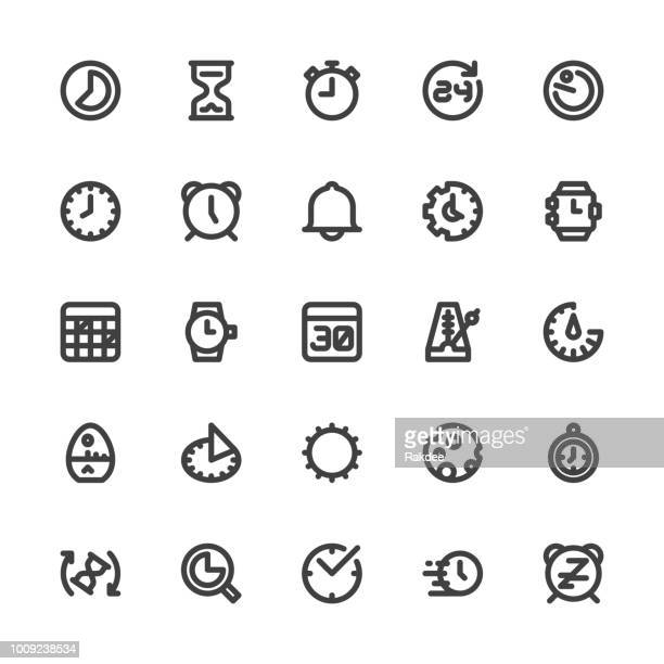 Time Icons - Bold Line Series