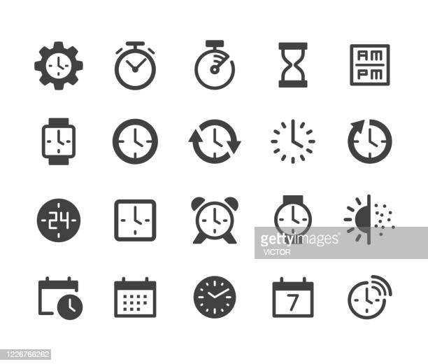 タイムアイコン - クラシックシリーズ - 固体点のイラスト素材/クリップアート素材/マンガ素材/アイコン素材