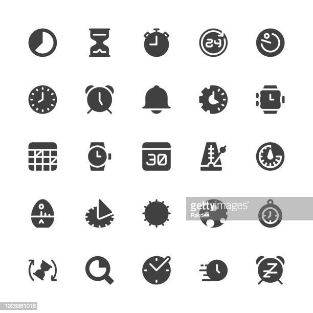 Time Icons - Gray Series