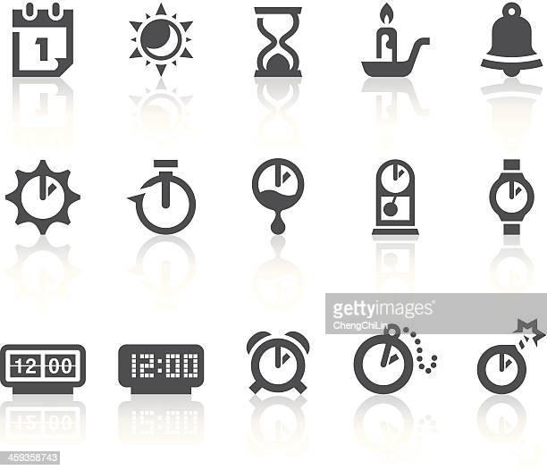 ilustraciones, imágenes clip art, dibujos animados e iconos de stock de iconos del tiempo/simple de la serie black - reloj de bolsillo