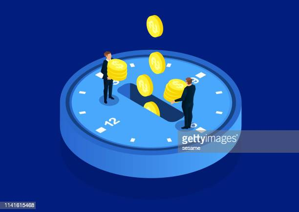 time investment - time stock illustrations