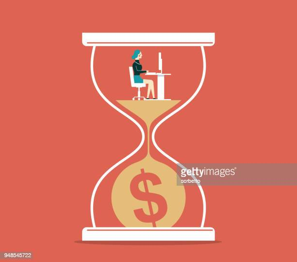 Time is money - Businesswoman