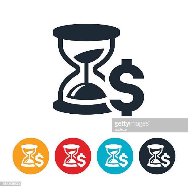 ilustrações, clipart, desenhos animados e ícones de time is money icon - tempo é dinheiro