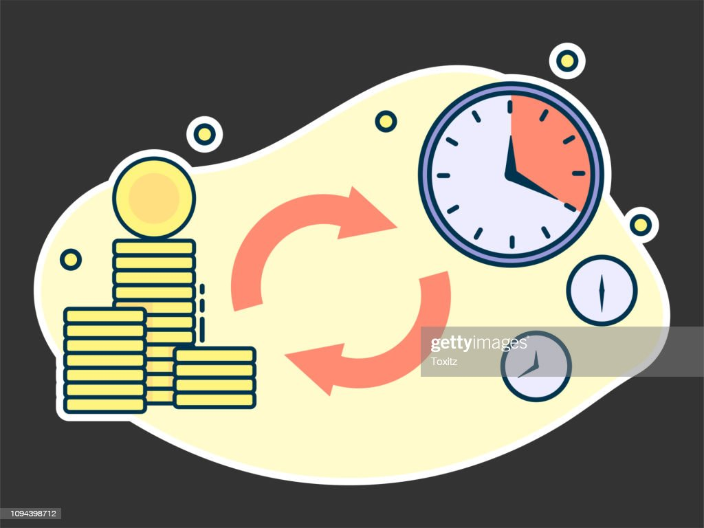 time is money, quick loans and deposits concept