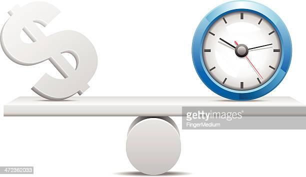 ilustrações, clipart, desenhos animados e ícones de tempo é dinheiro - tempo é dinheiro
