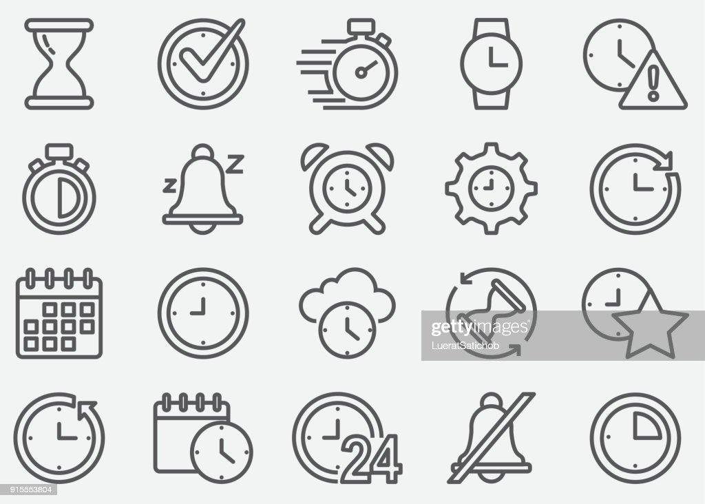 Ícones de linha do tempo : Ilustração