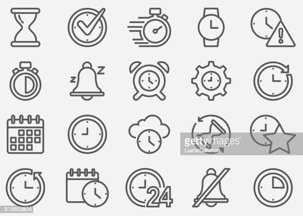 time line icons - time stock illustrations