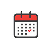Time management and Schedule icon for upcoming event