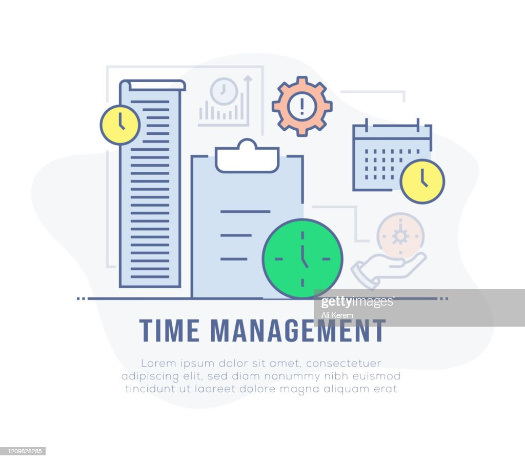 Time Management Banner High Res Vector Graphic Getty Images