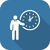 Time Management Icon. Business Concept