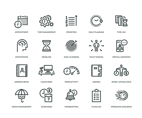 Time Management Icon Set - gettyimageskorea