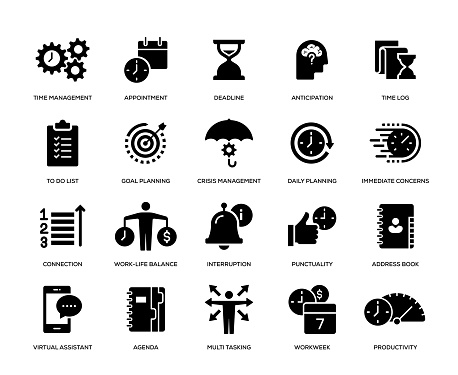 Time Management Icon Set - gettyimageskorea