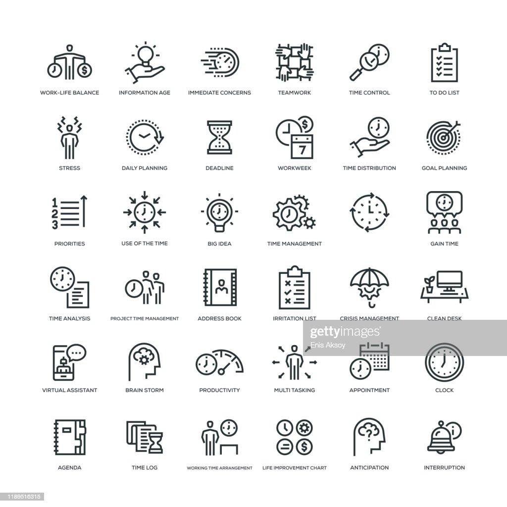 Time Management Icon Set : stock illustration