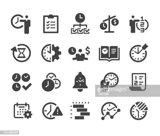 時間管理アイコンセット - クラシックシリーズ - 期待点のイラスト素材/クリップアート素材/マンガ素材/アイコン素材