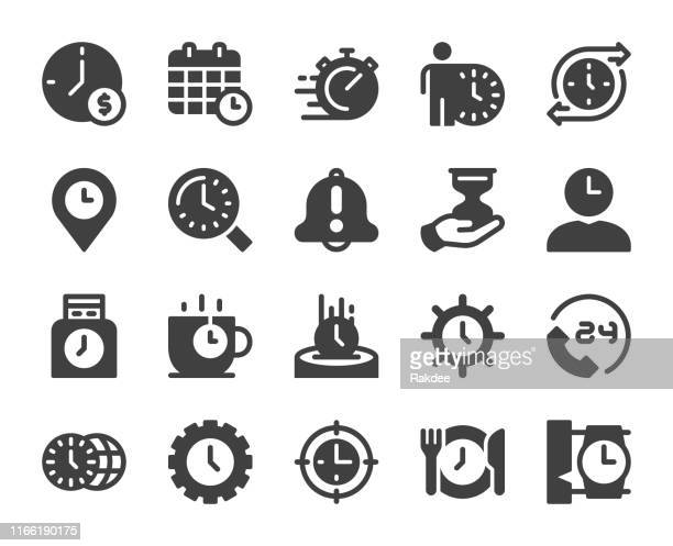 time management - icons - time stock illustrations