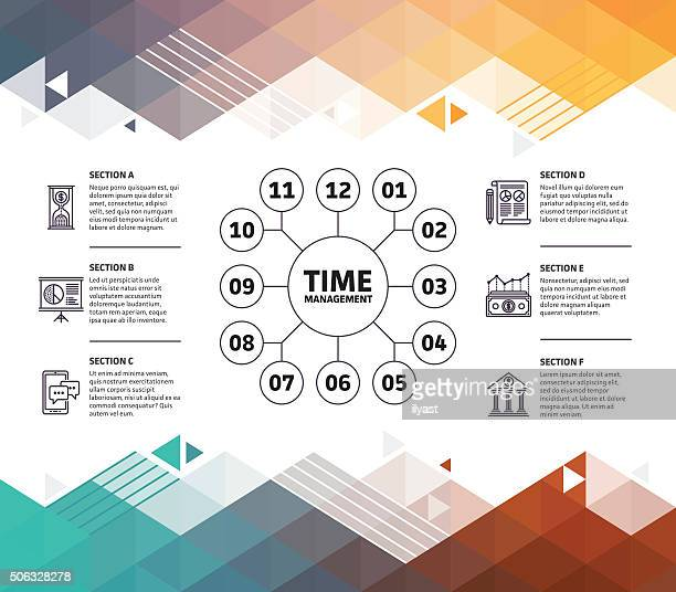 Time Management Infographic Abstract Background