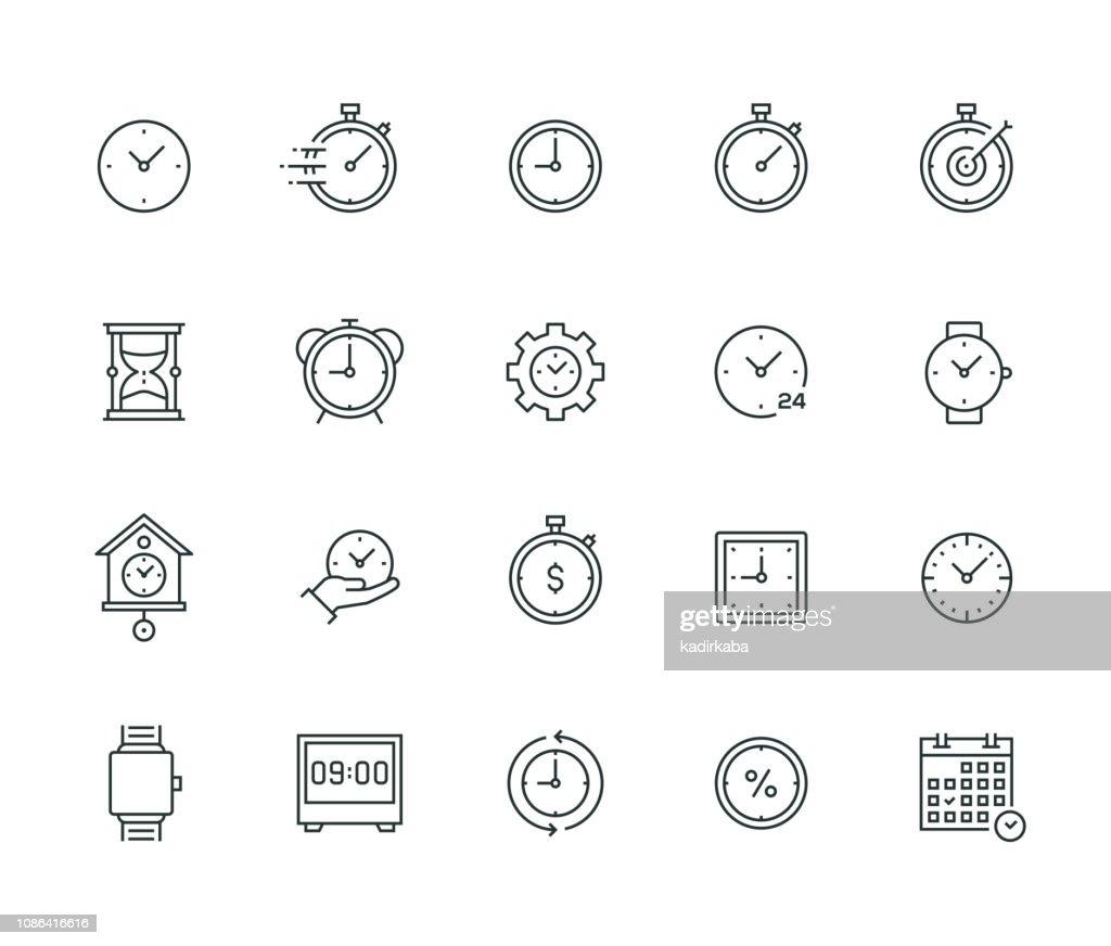 Série de linha fina de gerenciamento de tempo : Ilustração