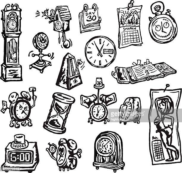60 Top Grandfather Clock Stock Illustrations, Clip art