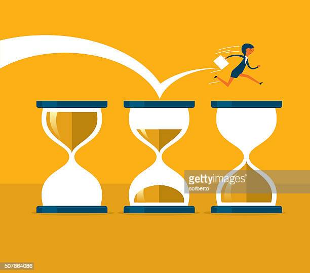 time pressure - high jump stock illustrations