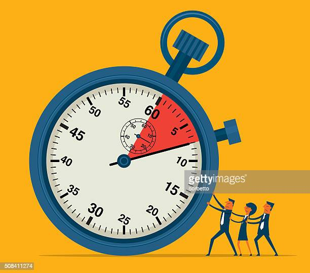 time pressure - overworked stock illustrations